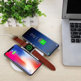 iPM 3 in 1 Ultra Thin Fast Charging Wireless Charging Pad - Works With Apple Watch, iPhone, Samsung and All Qi Wireless Charging Smartphones