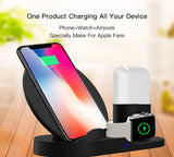 iPM 3 in 1 Ultra Fast Wireless Charging Station for Apple Watch, iPhone and Apple Airpods