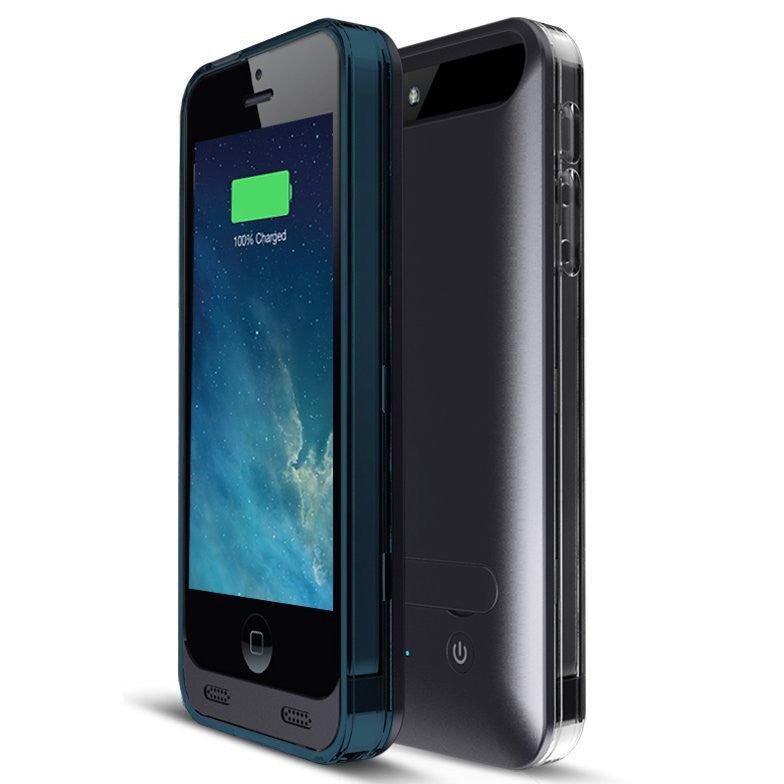 iPM 2400mAh MFI Apple Certified Premium Rechargeable Extended Battery Case for iPhone 5/5S