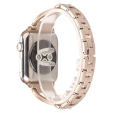 iPM WA86 Slim & Elegant Stainless Steel Watch Band With Modern Twist & Rhinestones