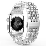 iPM Modern Stainless Steel Link Band with Butterfly Closure for Apple Watch
