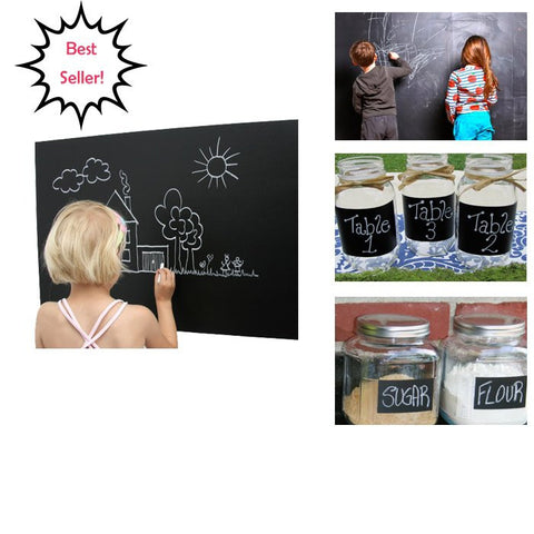 Amazing Wall Decal - Transform Walls into Drawing Boards - 6 Ft. x 18 Inches