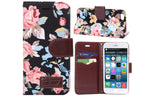 iPM Floral Leather Wallet Storge Case For iPhone 5/5S