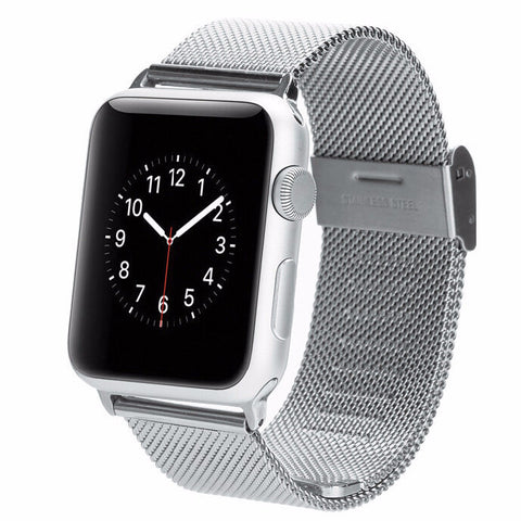 iPM Stainless Steel Mesh Milanese Loop Band for Apple Watch AWMILS002