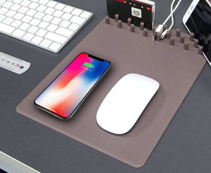 Ipm Qi Wireless Charging Mouse Pad Organizer Theipmstore Com