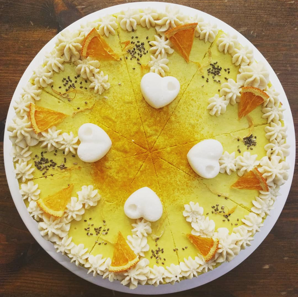 Lemon, Ginger & Turmeric Cheesecake