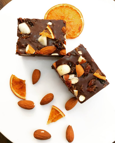 Orange, Ginger & Almond Rocky Road