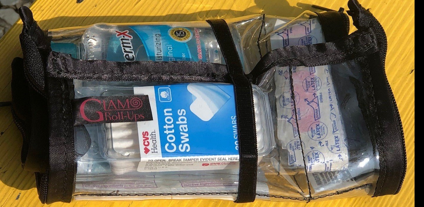 Covid 19 Roll-Up - Pandemic Pouch - Cosmetic Storage - Toiletry Bag - Covid 19 Bag