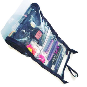 Diva - Makeup Organizer- Cosmetic Storage-Cosmetic Bag- Small Space Storage - Glam Roll-Ups