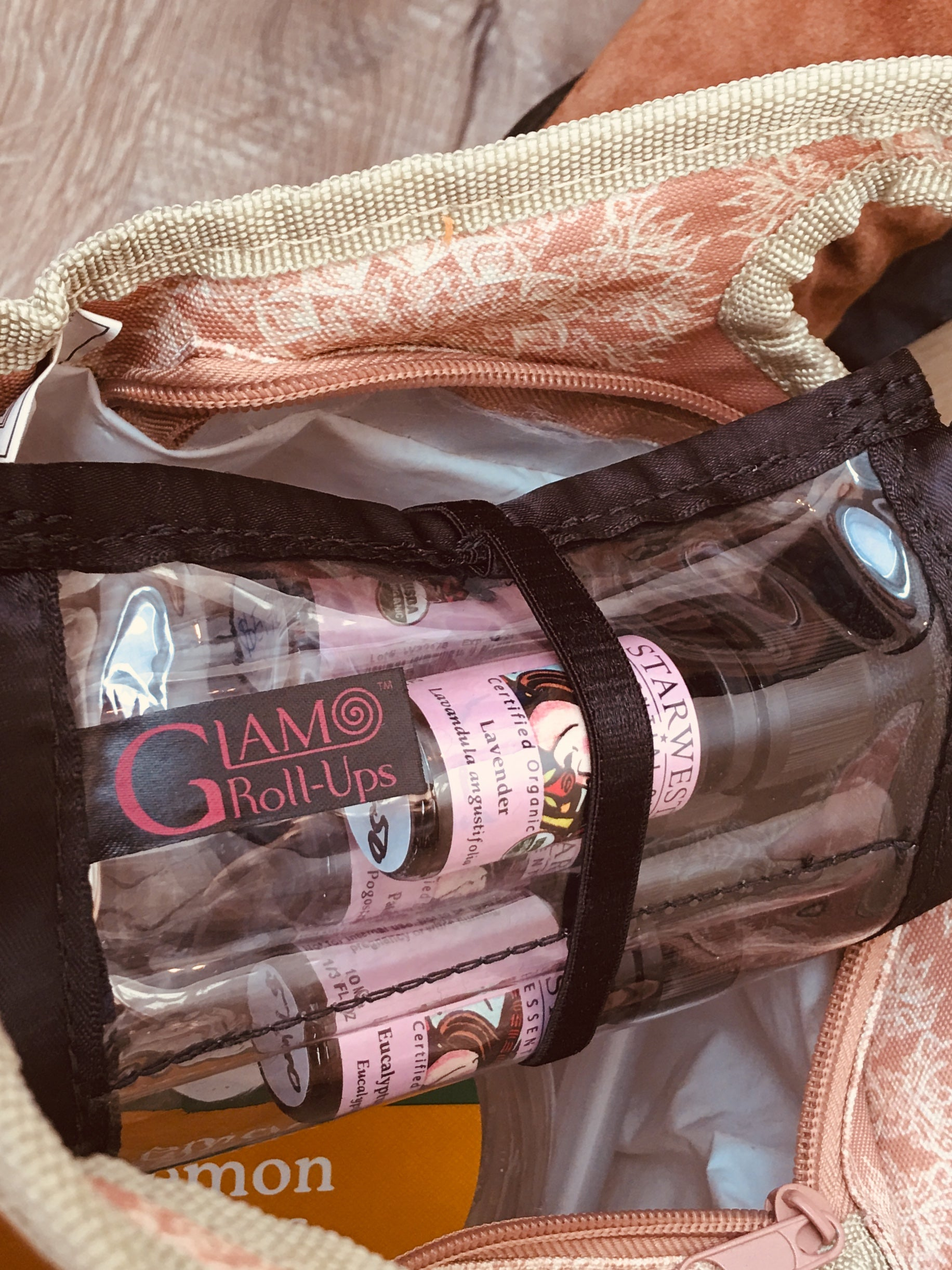 Essential Oil Roll-Up - Essential Oil Storage- Essential Oil Travel Bag - Glam Roll-Ups