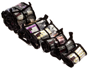 Makeup Organizer Glam Roll-Up Set of 5 Bags - Cosmetic Storage- Small Space Storage- Small Space Containers - Glam Roll-Ups