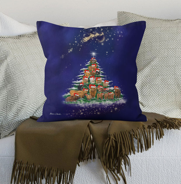 "The Herd Christmas Tree 18"" Cushion"