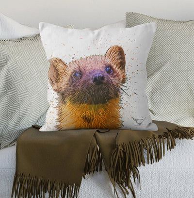 "Muddy Wellies ""Pine Martin"" Cushion"