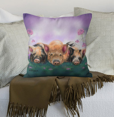 """Piggy in the Middle"" Cushion"