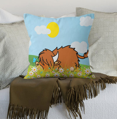"New Muddy Wellies ""Lazy Coo"" Scatter Cushion"