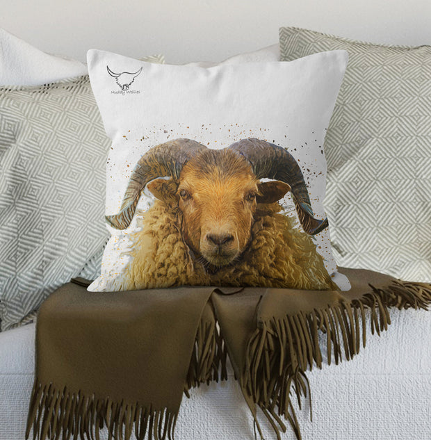 "Muddy Wellies ""Arran Ram"" Cushion"