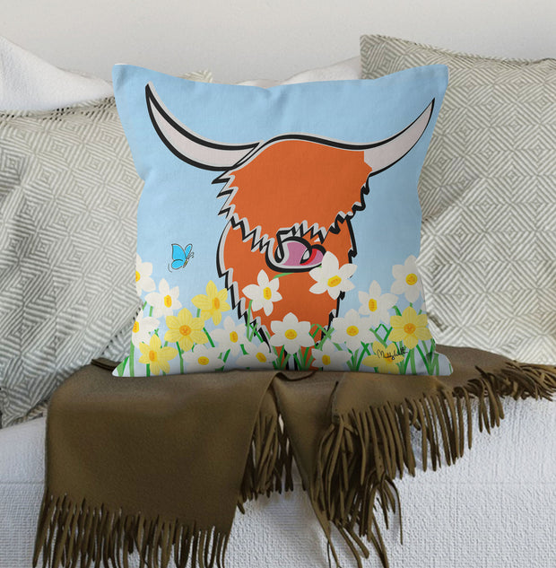 "New Muddy Wellies ""Daffodil"" Scatter Cushion"