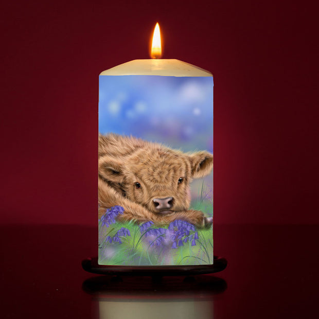 'Bluebell' Large Pillar Candle