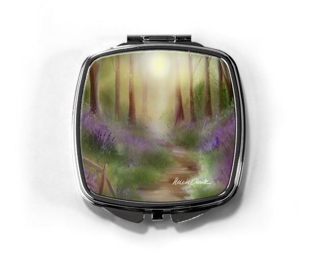 """Bluebell Wood"" Compact Mirror"