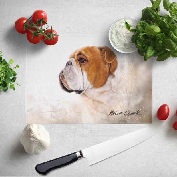 """Bulldog"" Glass Chopping Board"