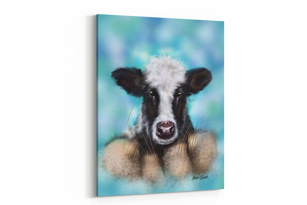 """Curious Calf"" - A4 Standard Canvas Print"