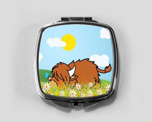 Lazy Coo Compact Mirror