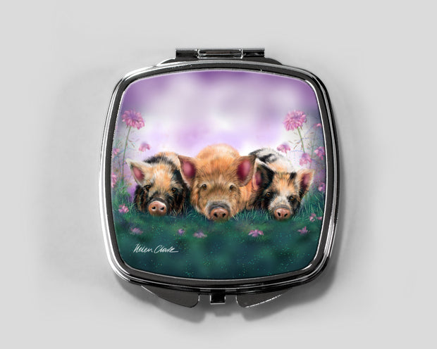 Piggy in the Middle Compact Mirror