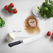 Little Orangutan Glass Chopping Board