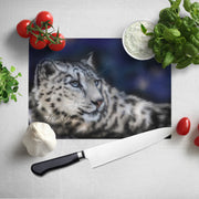 Snow Leopard Glass Chopping Board