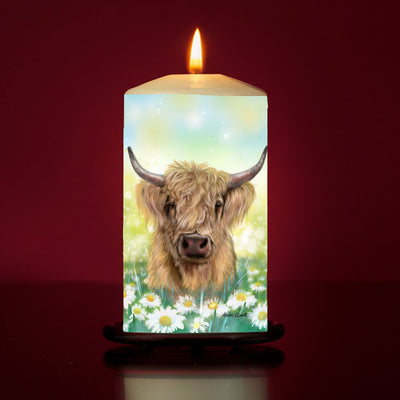 'Daisy' Large Pillar Candle