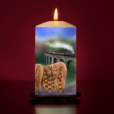 'Enchanted Express' Large Pillar Candle