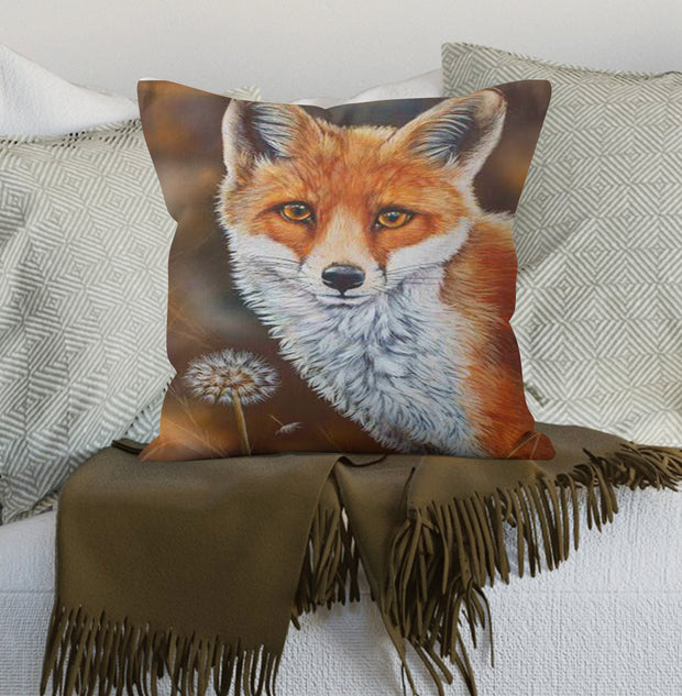 Fox and the Dandelion Scatter Cushion