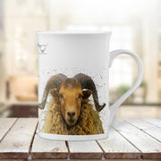 "Muddy Wellies ""Arran Ram"" Porcelain Cup"