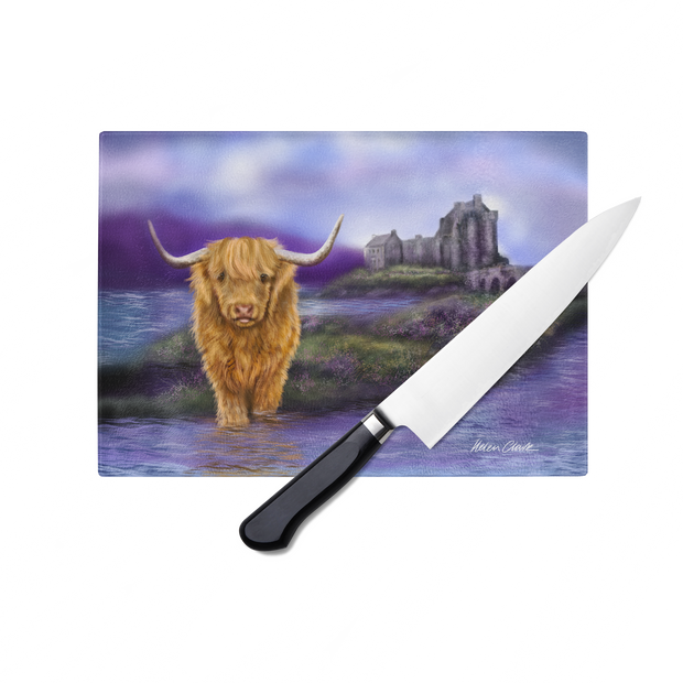 Eilean Donan Glass Chopping Board