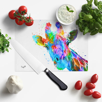 'Rainbow' Glass Chopping Board