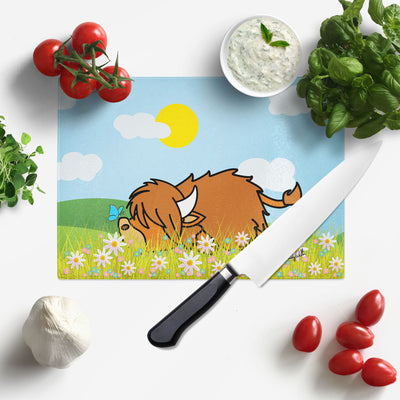 NEW Lazy Coo Glass Chopping Board