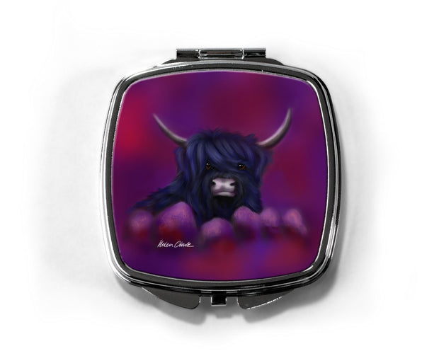 """Hamish in Blue"" Compact Mirror"