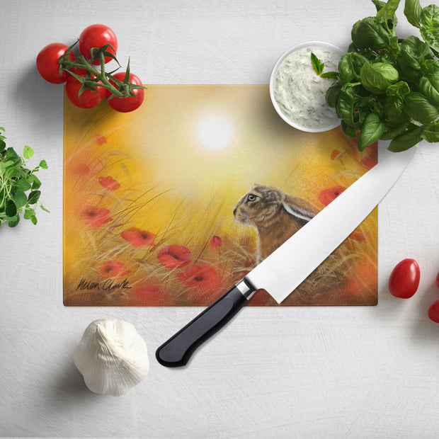Hare and the Poppies Chopping Board