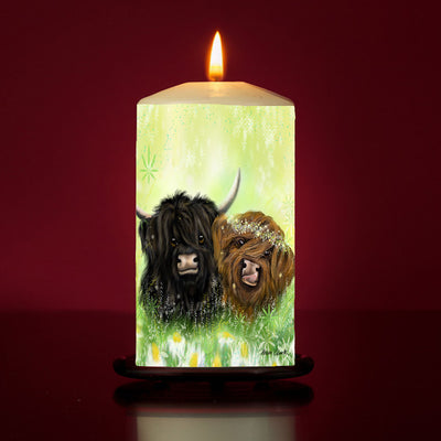 I Moo Large Pillar Candle
