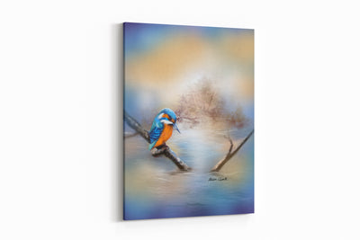 """Kingfisher Blues"" - A4 Standard Canvas Print"