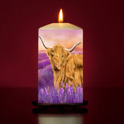 Lavendar Large Pillar Candle