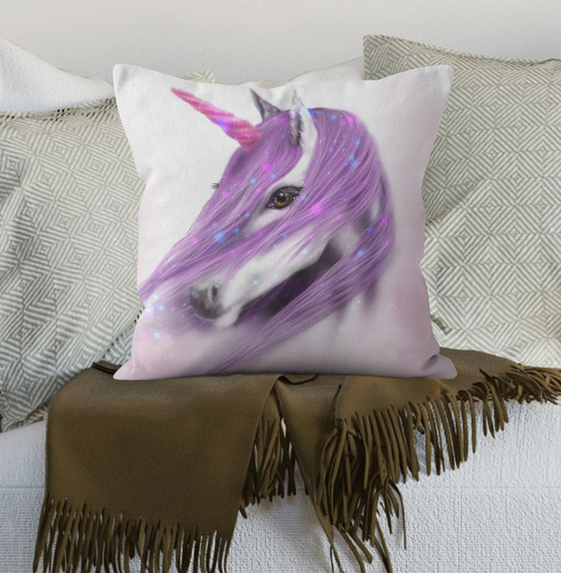 """Lilac Unicorn"" Cushion"