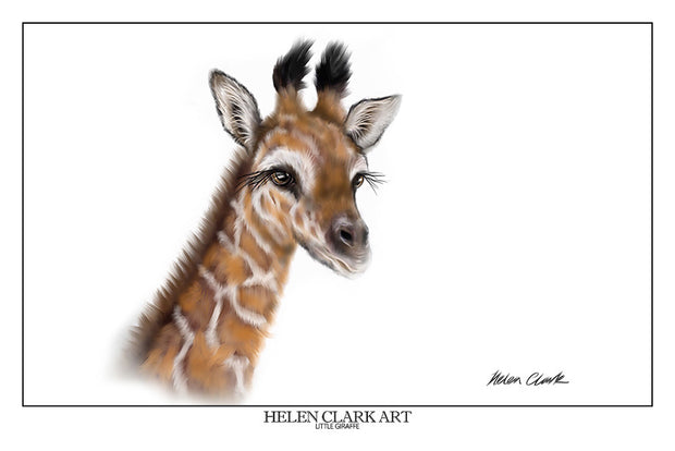 """Little Giraffe"" Art Prints"