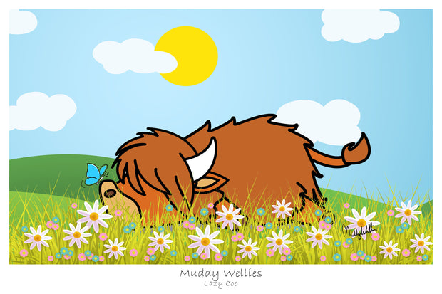 "NEW ""Lazy Coo"" Art Prints"