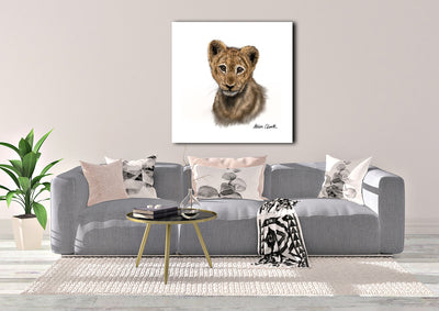 """Little Lion Cub"" SUPER SIZE Canvas"