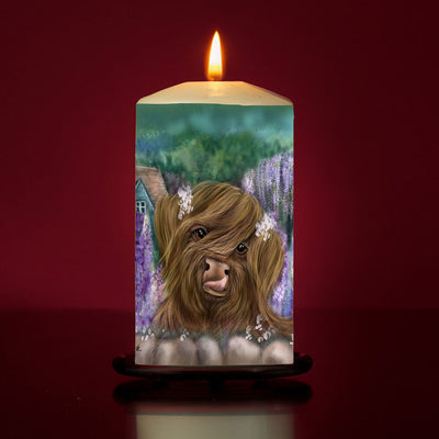 Marmalade and the Cottage Garden Large Pillar Candle