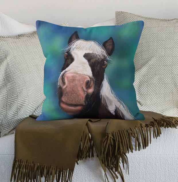 Nosy Parker Horse Scatter Cushion