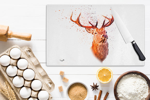 Crowned Monarch Glass Chopping Board