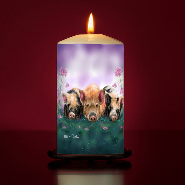 Piggy in the Middle Large Pillar Candle