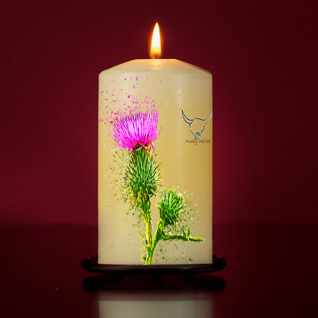 Icon Of Scotland Large Pillar Candle